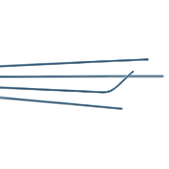 polymer guide wire specifically designed for coronary sinus lead cannulation