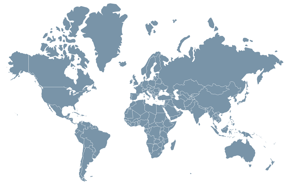 World map image.