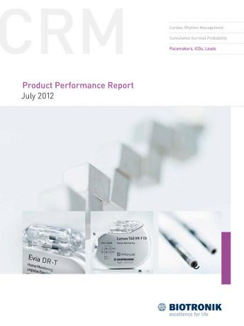 Product Performance Report July 2012