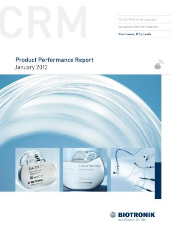 Product Performance Report January 2012
